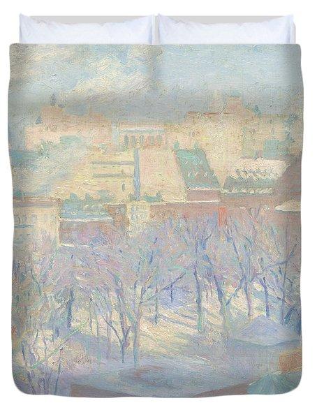 Madison Square, Snow, 1904  Duvet Cover