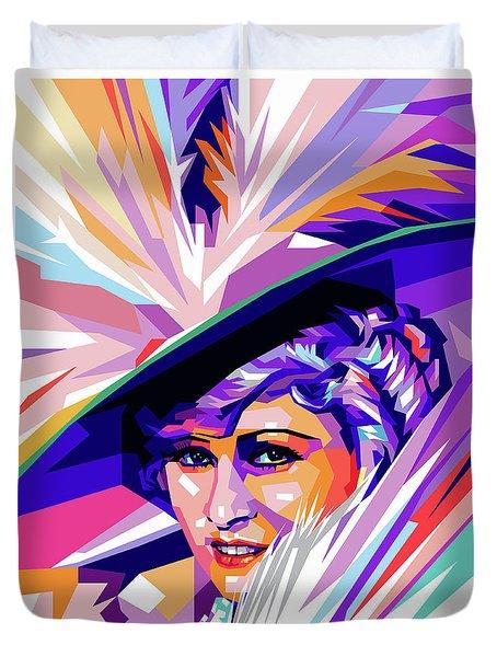 Mae West Pop Art Duvet Cover