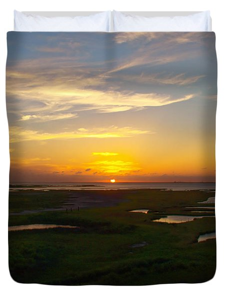 Maggies Cove Sunset Duvet Cover