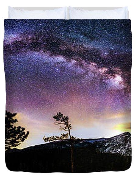 Magic Above Rocky Mountain National Park Duvet Cover