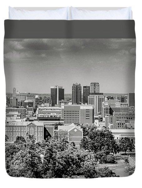 Magic City Skyline Bw Duvet Cover