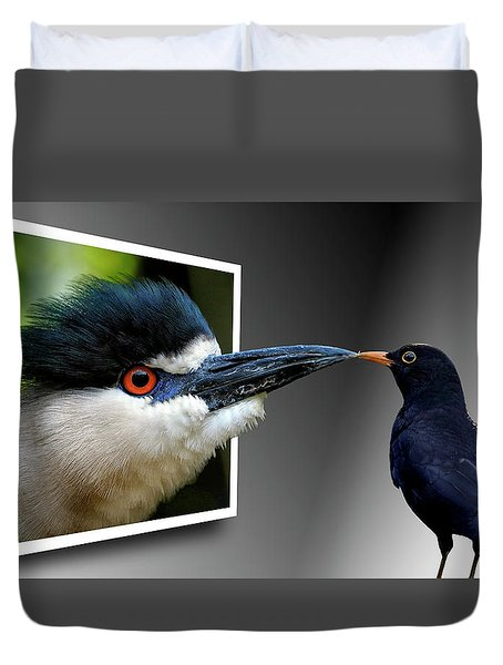 Duvet Cover featuring the photograph Magic Mirror On The Wall by Bill Swartwout Fine Art Photography