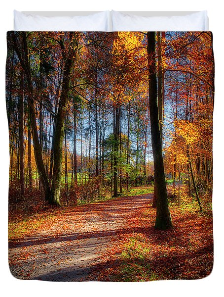 Duvet Cover featuring the photograph Magic Of The Forest by Edmund Nagele