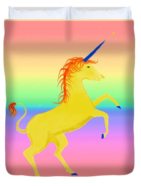 Magical Beast Unicorn 1 Duvet Cover