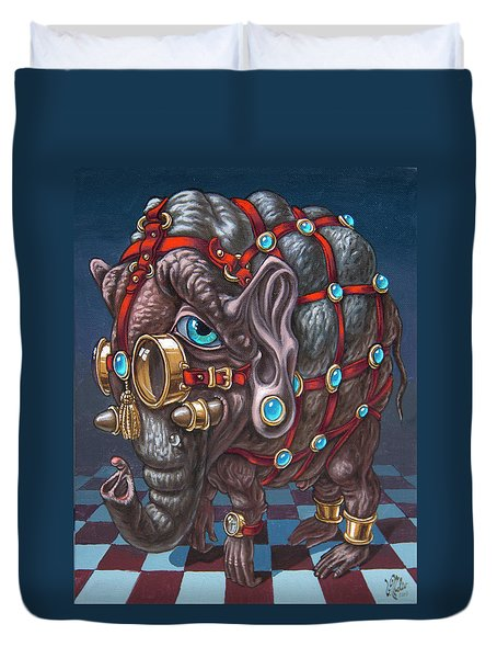 Magical Many-eyed Elephant Duvet Cover