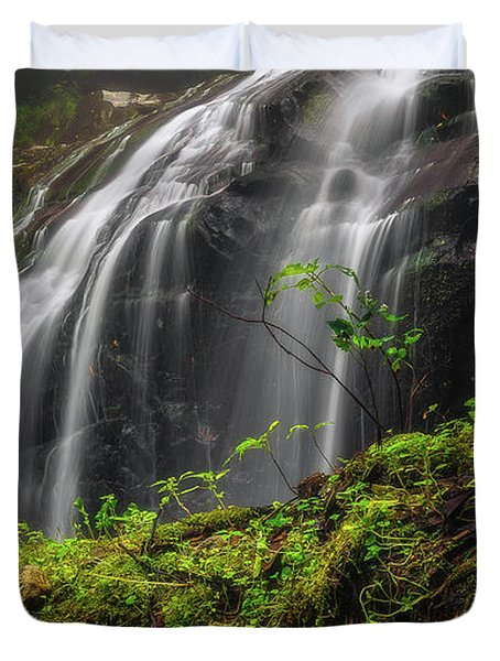 Magical Mystical Mossy Waterfall Duvet Cover