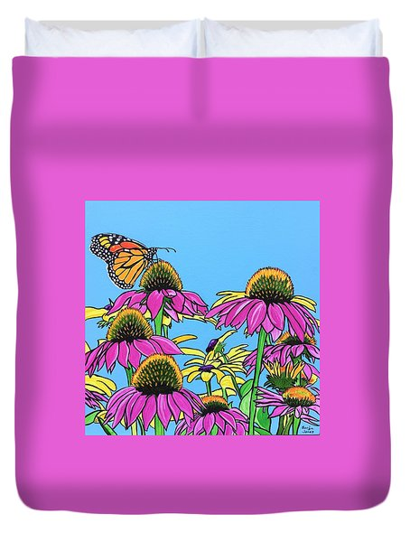 Magnificant Monarch Duvet Cover
