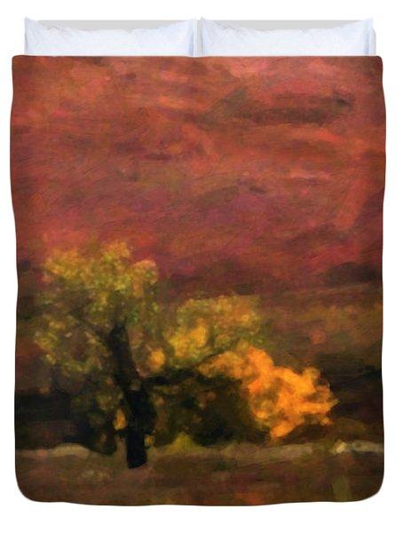Magnificent Autumn Colors Duvet Cover