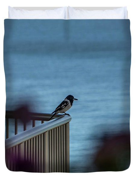 Magpie Bird Duvet Cover