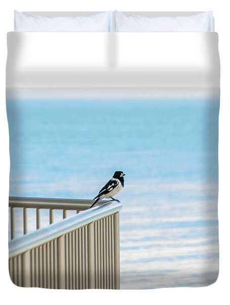 Magpie In Waiting Duvet Cover