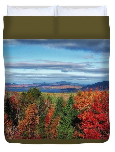 Maine Fall Foliage Duvet Cover