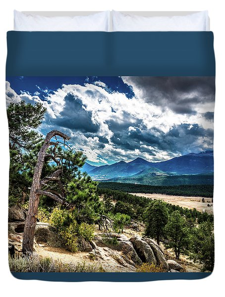 Duvet Cover featuring the photograph Majestic Clouds by James L Bartlett