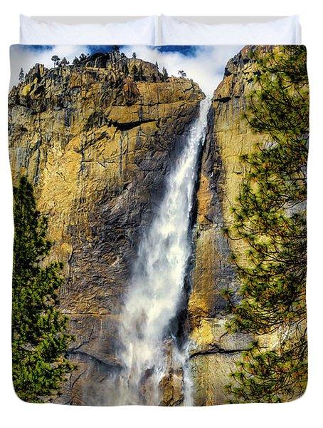 Majestic Upper Yosemite Fall Duvet Cover