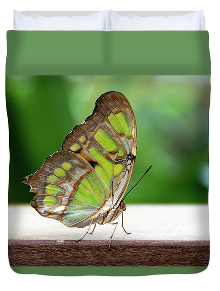 Malachite Butterfly Profile Duvet Cover