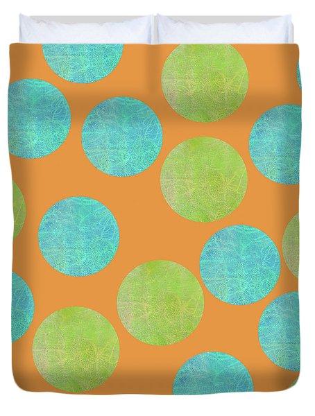 Malaysian Batik Polka Dot Print Duvet Cover