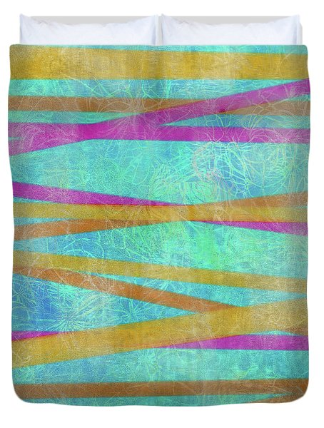 Malaysian Tropical Batik Strip Print Duvet Cover
