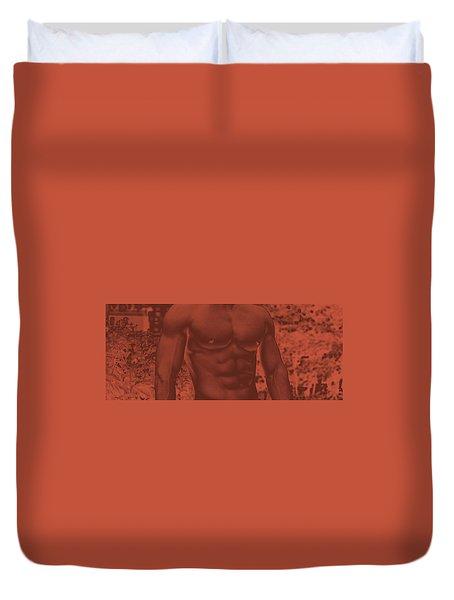 Male Torso Duvet Cover