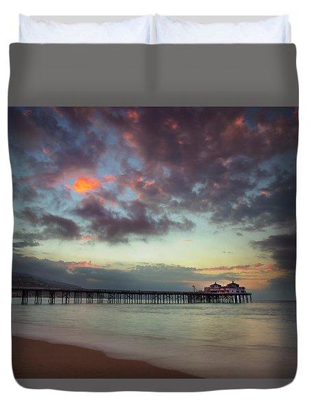 Malibu Pier IIi Duvet Cover