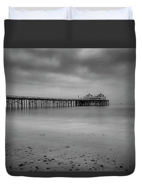 Malibu Pier Duvet Cover