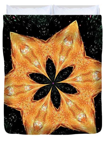 Mallard Head Mandala Duvet Cover