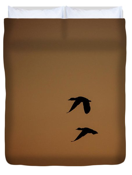 Mallard Morning Duvet Cover