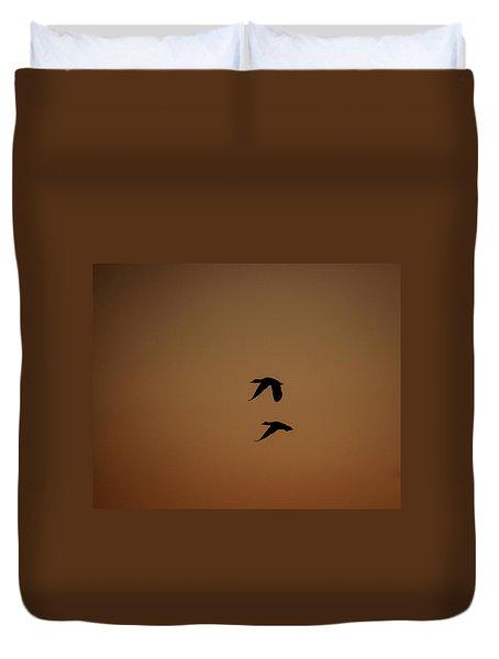 Mallard Morning Duvet Cover