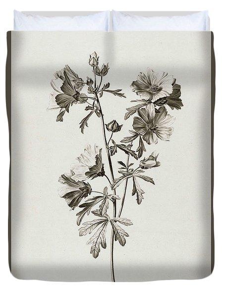 Malva Alcea, 1801 Duvet Cover