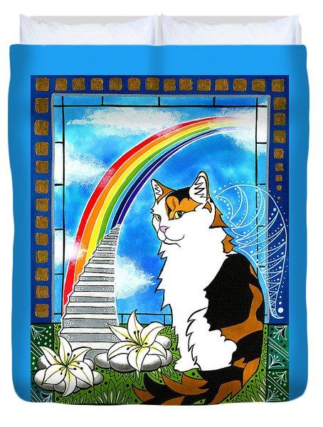 Mama Turtle - Cat Painting Duvet Cover