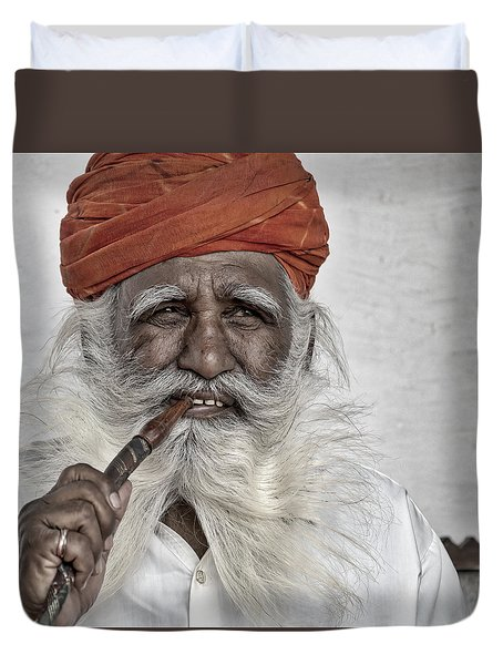 Man Of Wisdom Duvet Cover