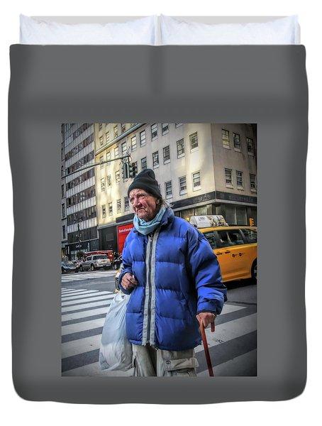 Man Vs. City Duvet Cover