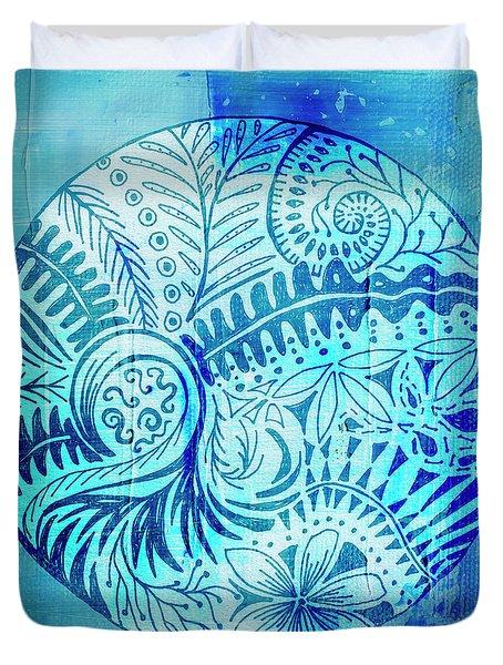 Mandala Foliage Duvet Cover