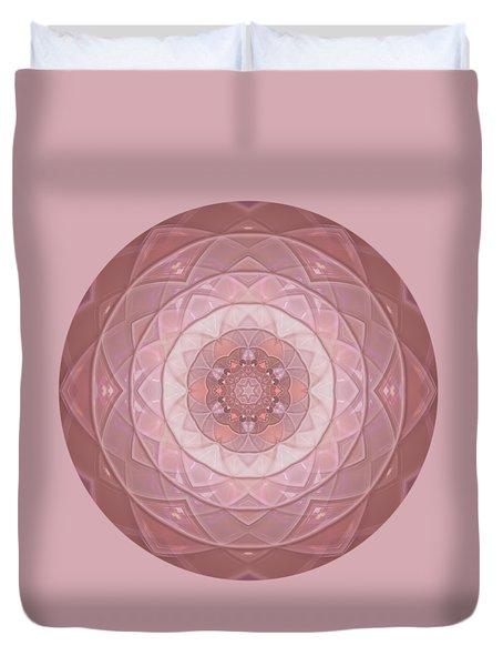 Mandala Introspective Love  Duvet Cover