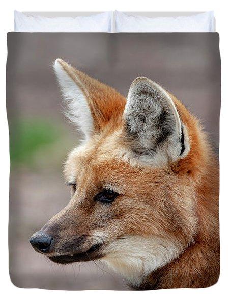 Maned Wolf Duvet Cover
