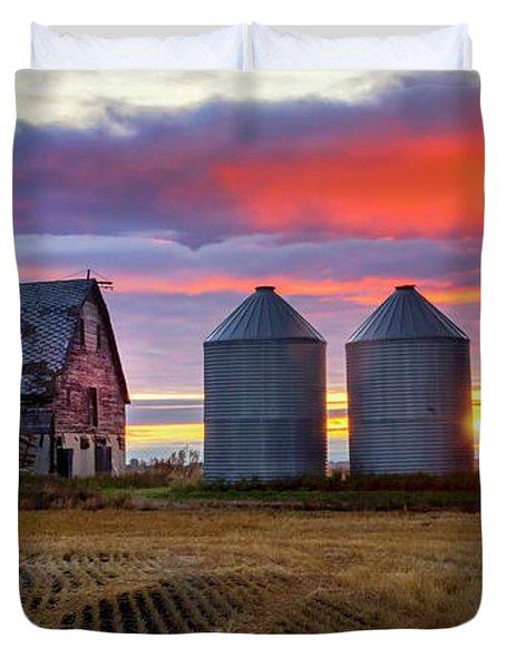 Manitoba Rural Scene Duvet Cover