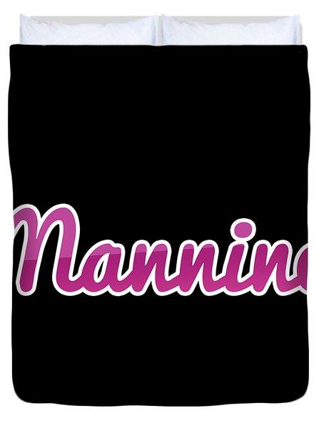 Mannino #mannino Duvet Cover