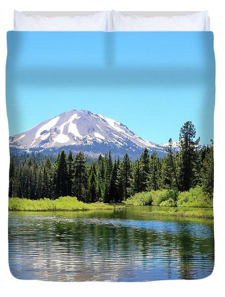 Manzanita Lake Reflection 1 Duvet Cover