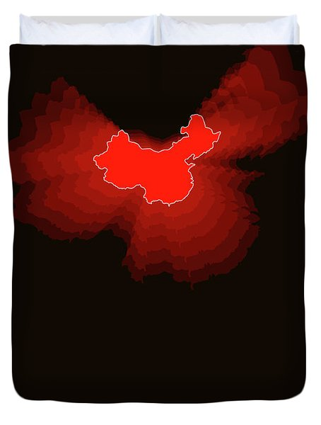Map Of China Duvet Cover