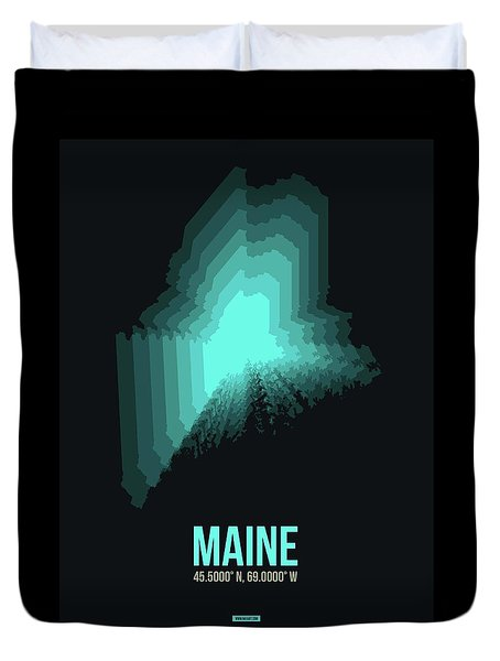 Map Of Maine 2 Duvet Cover