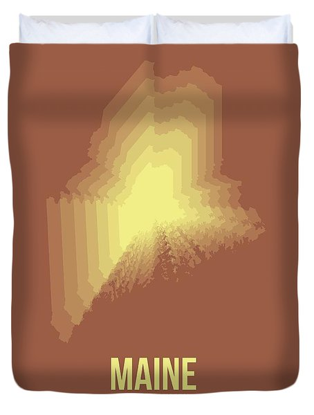 Map Of Maine Duvet Cover