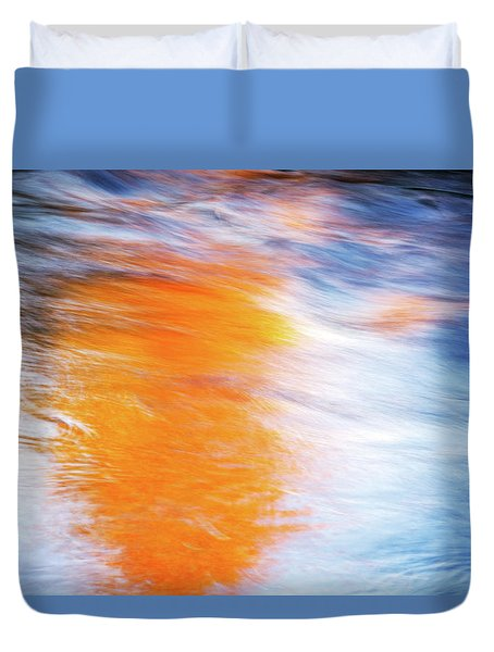 Maple Reflection Fall Duvet Cover
