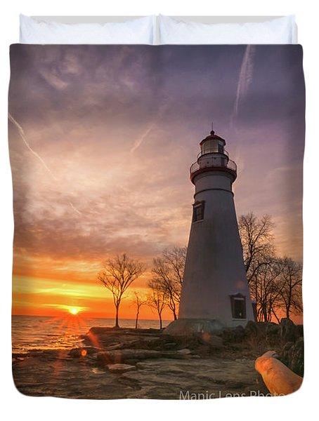 Marblehead Lighthouse Sunrise  Duvet Cover