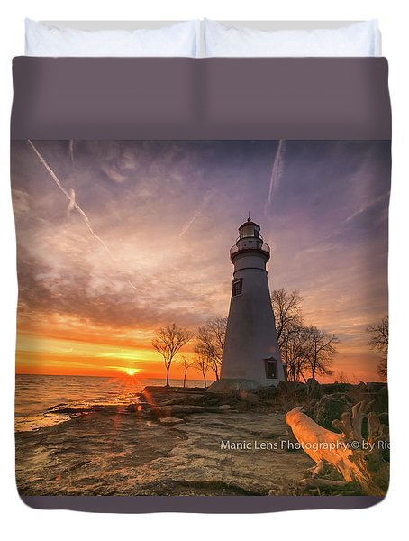 Marblehead Lighthouse Sunrise  Duvet Cover