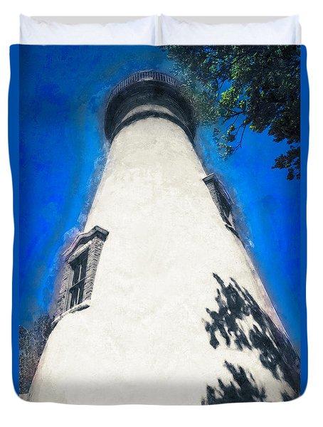 Marblehead Ohio Light Duvet Cover