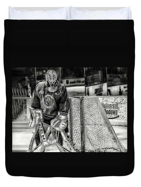 Marc Andre Fleury Vegas Golden Knights Duvet Cover