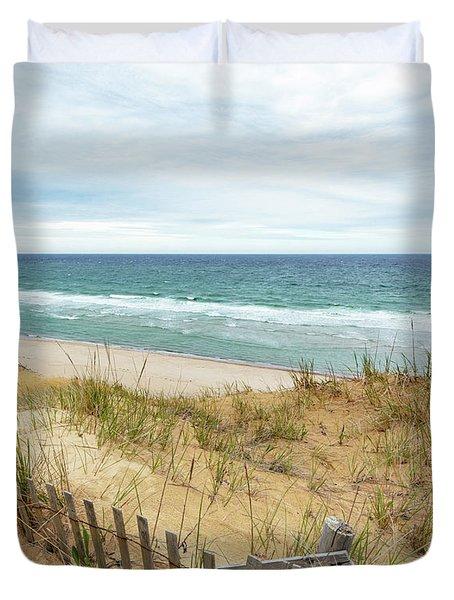 Marconi Beach In Spring Duvet Cover