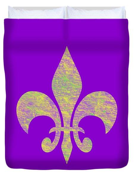 Mardi Gras Party Fleur De Lis Duvet Cover