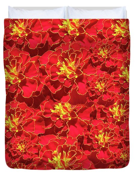 Marigold French Brocade Collage Duvet Cover