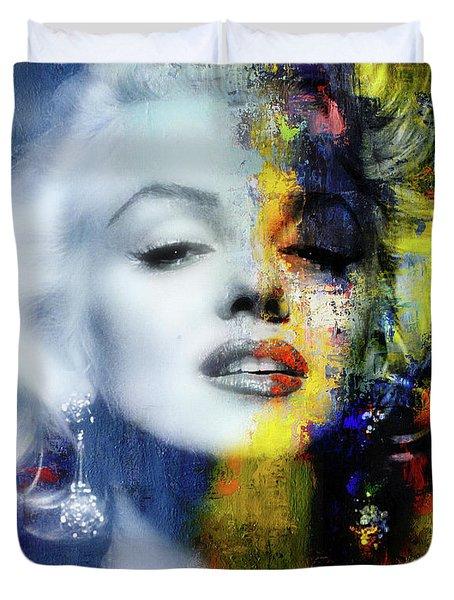 Marilyn Duality Duvet Cover