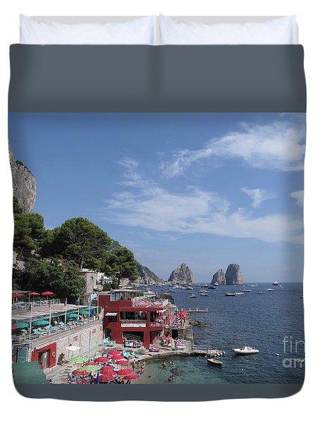Marina Piccola Beach Duvet Cover