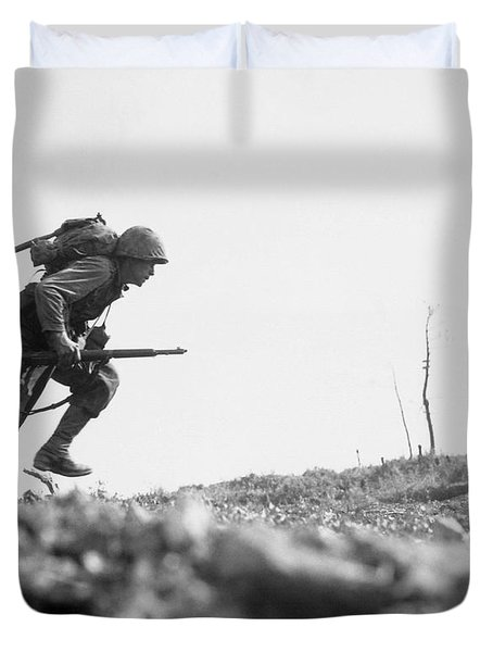Marine Dash On Okinawa Duvet Cover